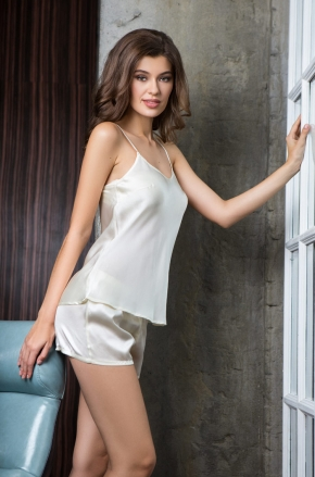 Пижама Mia-Mia - ROSEMARY ivory, 100% шелк