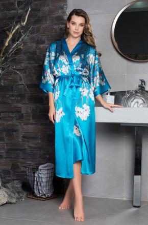 Халат кимоно макси SAKURA, 100% шелк