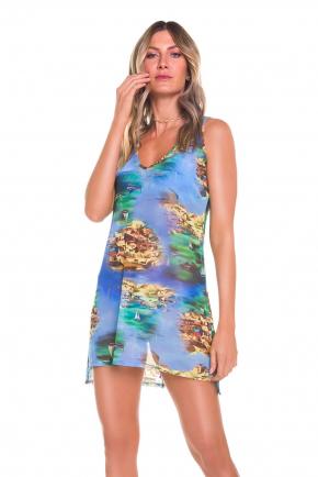 Пляжная туника-платье мини Maryssil - CRUISE