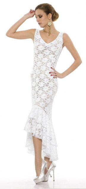 Ажурное платье макси REBECCA с люрексом