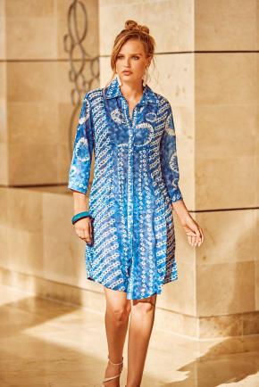 Пляжная туника-блуза DAVID 054, 100% хлопок