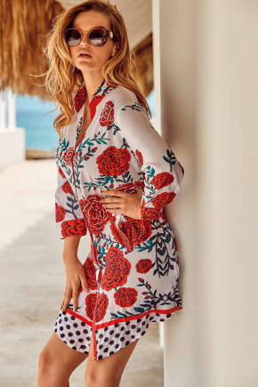 Пляжная туника-блуза DAVID 057, 100% хлопок