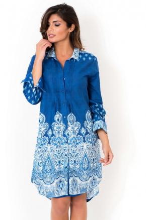 Пляжная блуза David - Jeans BLUE, 100% хлопок