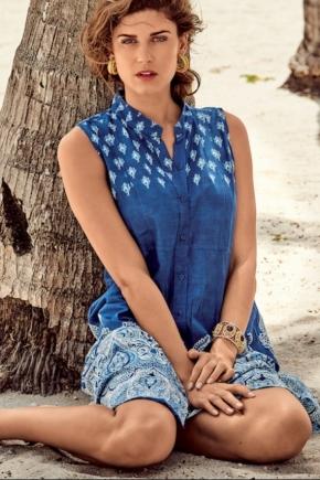 Пляжная туника-блуза DAVID Beach, 100% хлопок