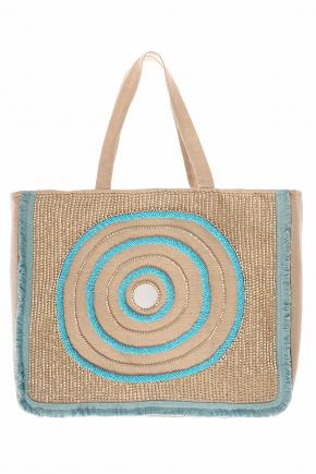 Пляжная сумка с декором ICONIQUE - NATURAL II