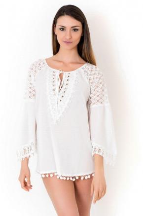 Пляжная блуза с рукавами ICONIQUE, 100% хлопок