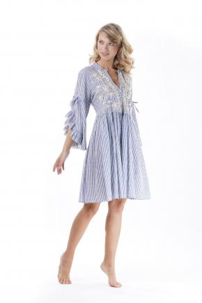 Пляжное платье мини Iconique - LIGHT BLUE