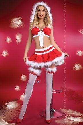 Новогодний костюм MISS CHRISTMAS, 3 предмета
