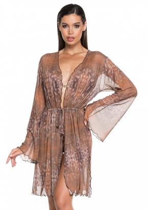 Пляжная блуза-туника LARISSA MINATTO - CAMEL