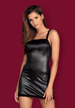 Платье мини Obsessive - LEATHERIA + стринги